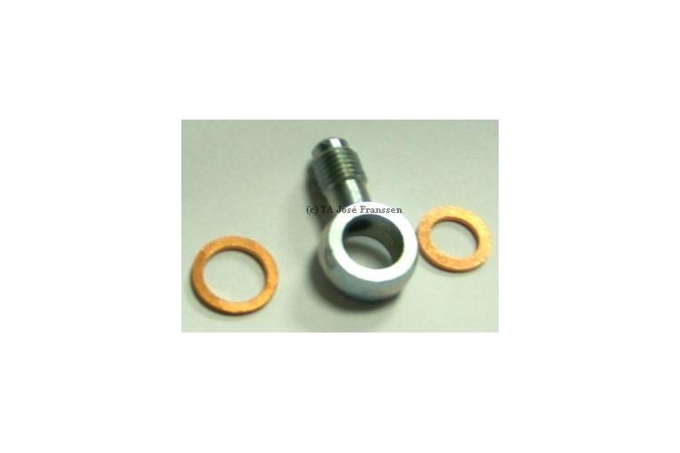 Banjo raccord orientable de cylindre de roue, simple