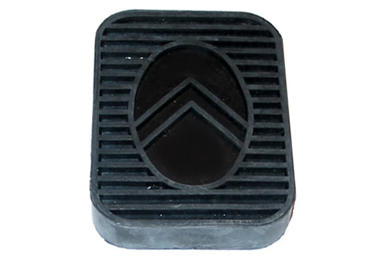 Rubber pad for clutch and brake pedals
