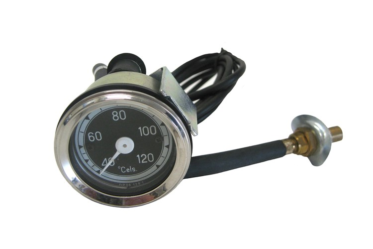 Water temp. gauge compl. to assemble in radiator hose; black