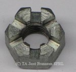Nut hex head, slotted 10x50